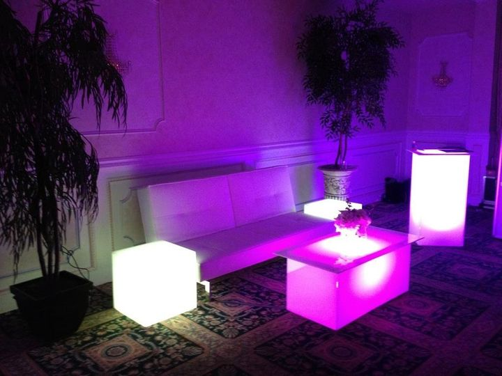 "We offer all white LED lounge furniture .. This is a great ""finishing touch"" for your event."