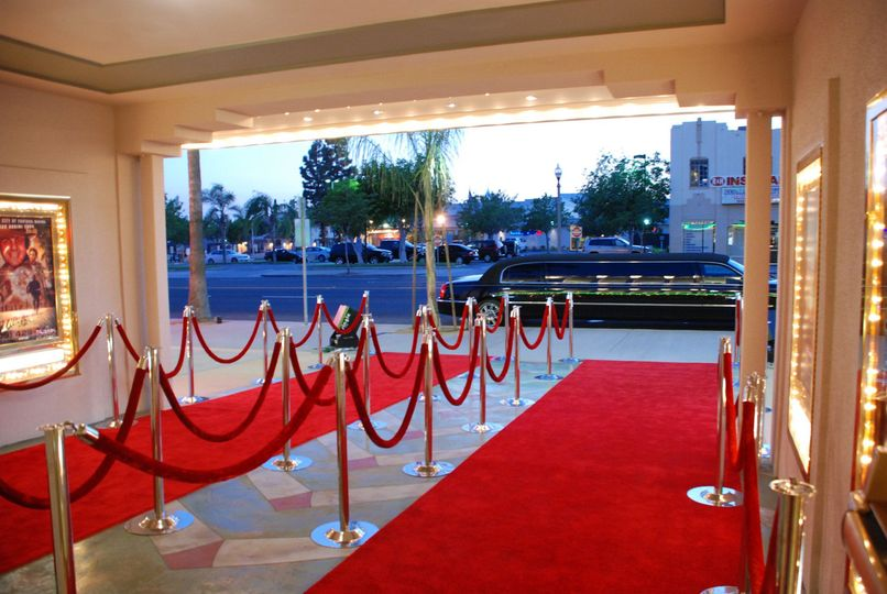 Red carpet of Center Stage Theater