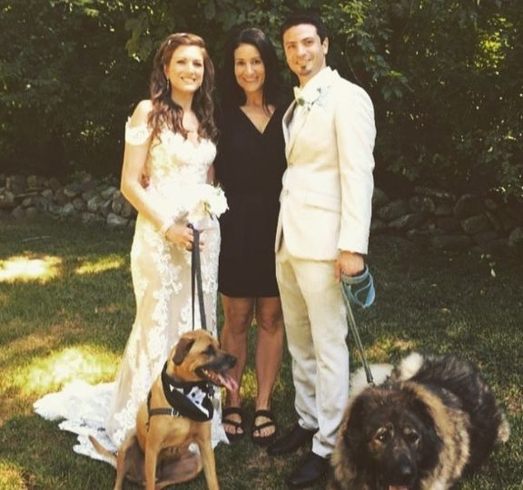 Married with the dogs too!