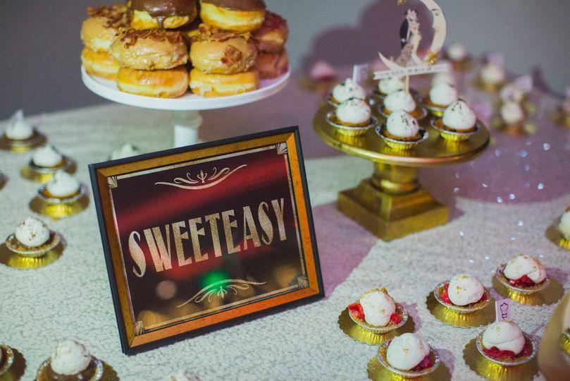 Speakeasy dessert table