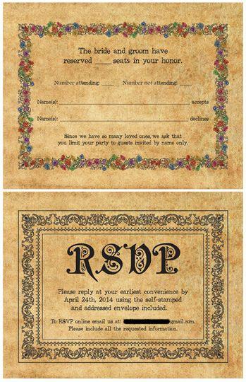 RSVP card design