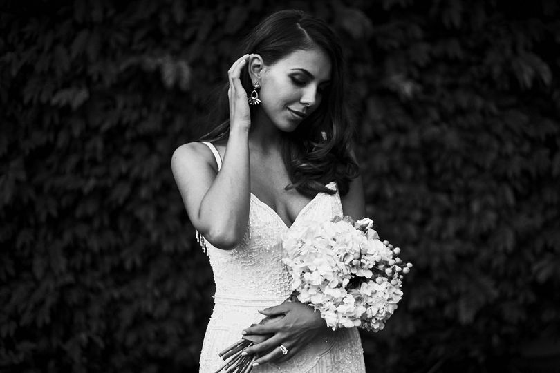 Black and white bridal portrait - Stephen Tang Photo