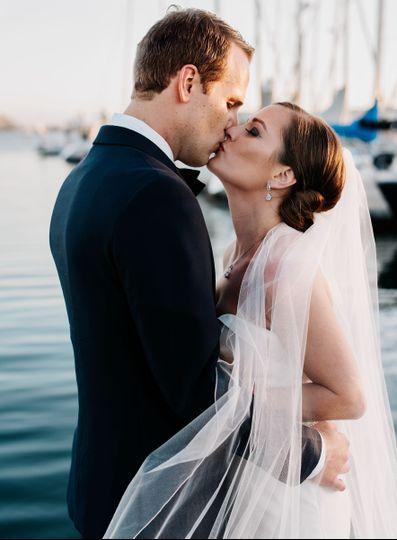 Wedding portrait California Yacht Club - Stephen Tang Photo