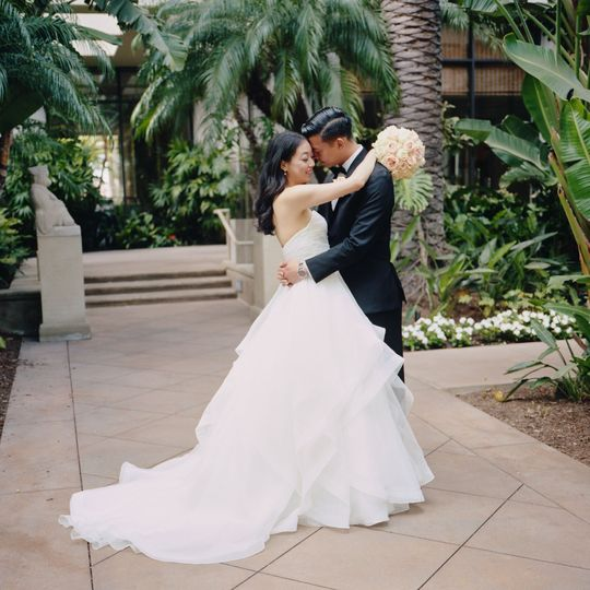 Natural light wedding portrait Fashion Island Hotel on film - Stephen Tang Photo