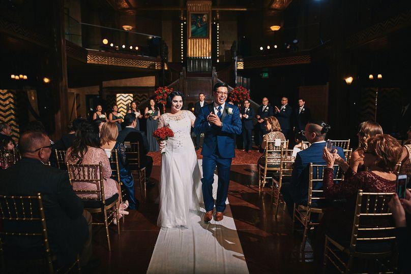 Wedding ceremony Cicada Club