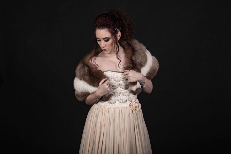 Bride with a fur rental