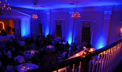 Blue reception uplighting