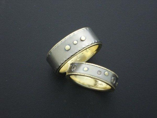 Kristin and Mark are another couple whom have already been married, but wished to have custom rings...