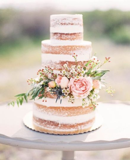 Champagne tiered Cake