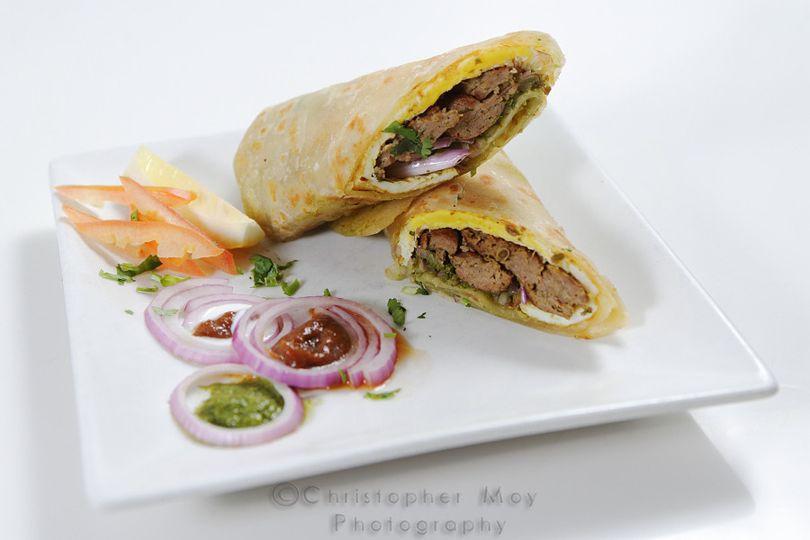 Chicken Tikka Kathi Rolls