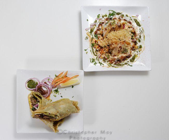 Chicken Tikka Kathi Rolls & Special samosa chaat