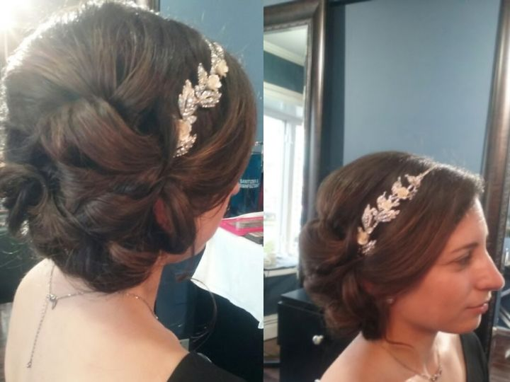 Tmx 1477268998906 Bridal Hair With Headband Saddle Brook, NJ wedding beauty