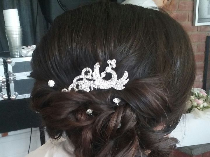 Tmx 1492012540973 Bride Side Updo Saddle Brook, NJ wedding beauty