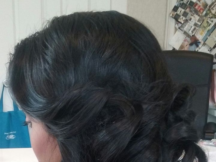 Tmx 1492012563226 Bride Side Updo 2 Saddle Brook, NJ wedding beauty