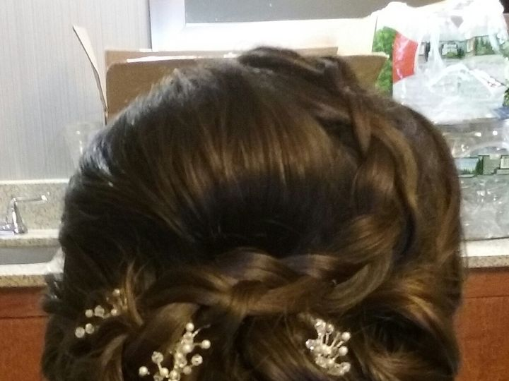 Tmx 1492012573206 Bride Side Updo3 Saddle Brook, NJ wedding beauty