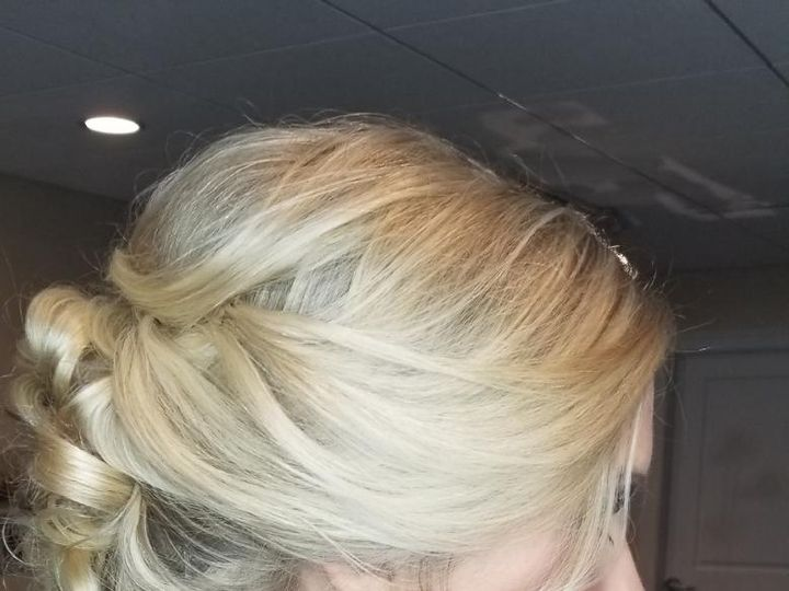 Tmx Blonde Bun 51 542489 Saddle Brook, NJ wedding beauty