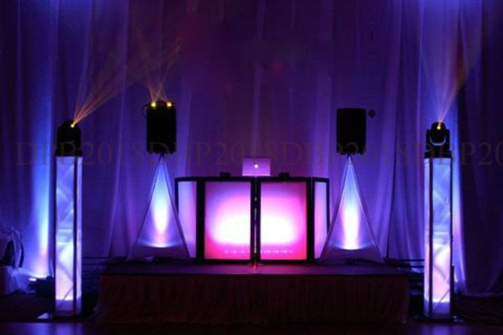 DJ booth lighting
