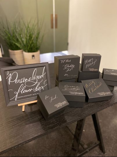 Onsite calligraphy events