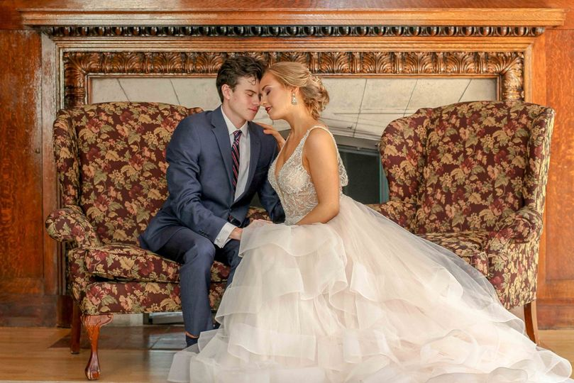 Elizabeth's wedding indoors