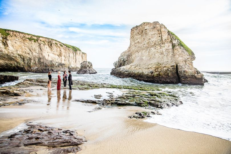 Shark Fin Cove Elopement