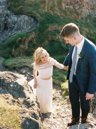 Ireland coast elopement