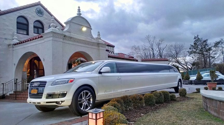 Limo in front of church