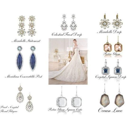 bride earring options