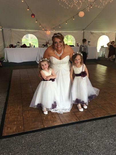 Burton Wedding Bride and Flower Girls