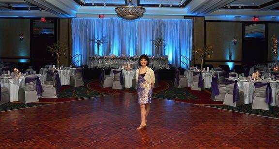 Rankin Events wedding reception at the Key Tower Marriott Hotel Grand Ballroom