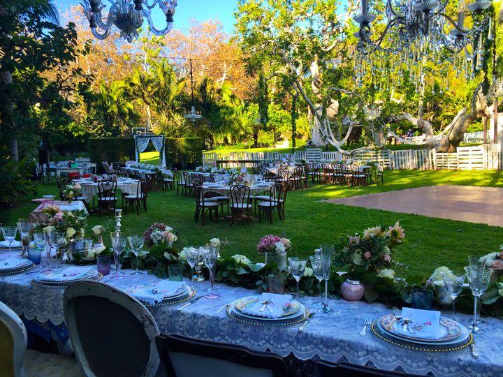 The garden wedding