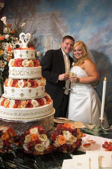 Rose inspired wedding cake
