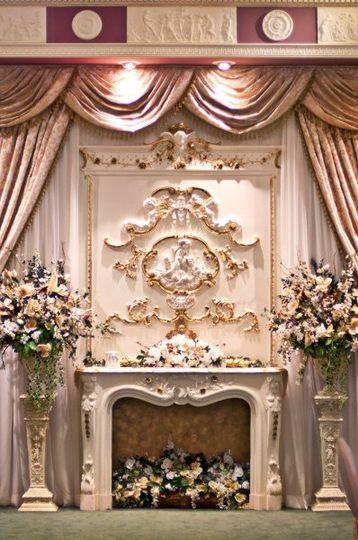 Fireplace floral arrangements