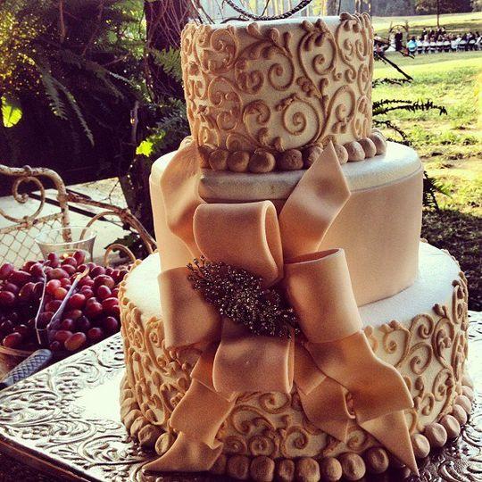 Detailed wedding cake