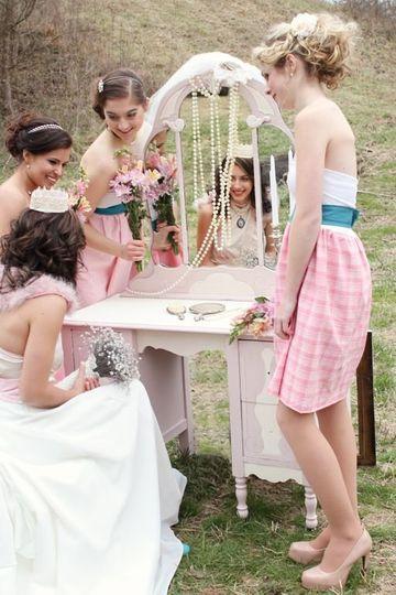 Pink and White Vintage Vanity!