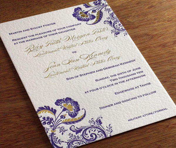 Allison Letterpress Wedding Invitation design...