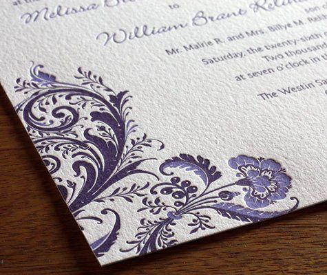 Allison Letterpress Wedding Invitation Design  http://invitationsbyajalon.com/gallery/allison.html