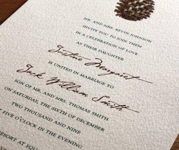 Aspen Letterpress Wedding Invitation Design  http://invitationsbyajalon.com/gallery/aspen.html