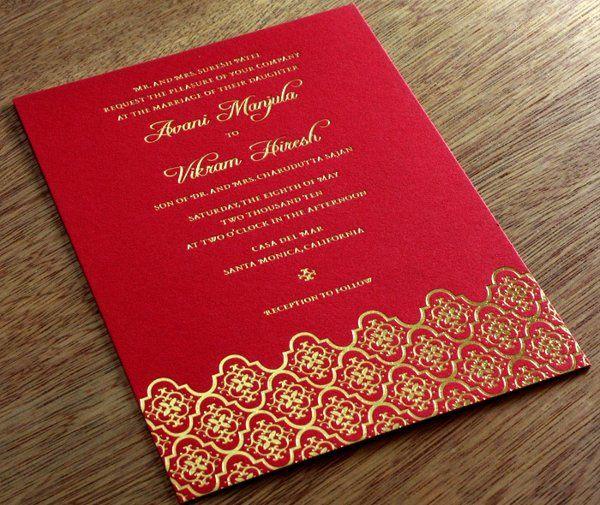 Avani Letterpress Wedding Invitation Design  http://invitationsbyajalon.com/gallery/avani.html