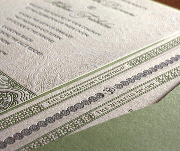 Devi Letterpress Wedding Invitation Design  http://invitationsbyajalon.com/gallery/devi.html