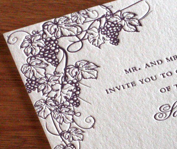 Caballero Letterpress Wedding Invitation Design...