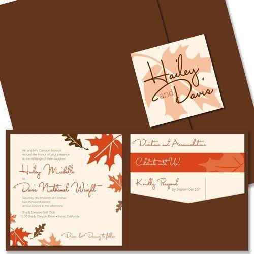 Tmx 1305924908901 FALLeavesMainImglarge Elysburg, PA wedding invitation