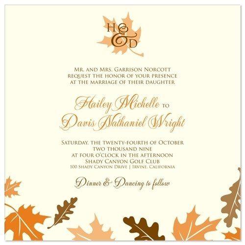Tmx 1305924971338 FallLeavesInvitelarge Elysburg, PA wedding invitation