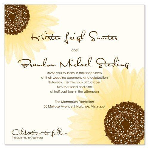 Tmx 1305924999557 Chocandmarigoldlarge Elysburg, PA wedding invitation