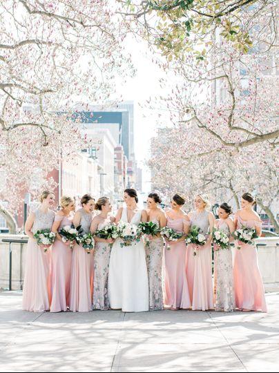 Spring Bride and Bridesmaids