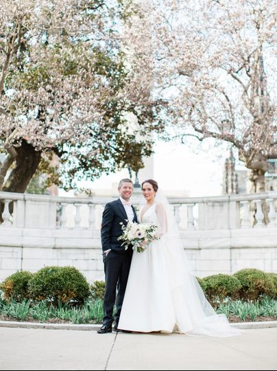 Spring Bride and Groom