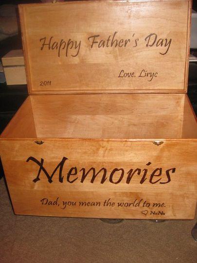 Custom Wood Burned Memory Box