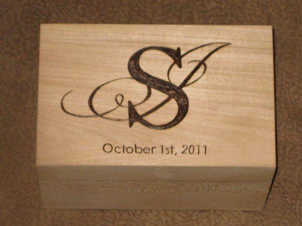 Monogram Wood Burned Recipe Box