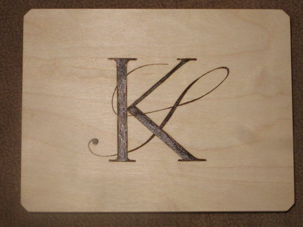 Wood Burned Memory Box - Monogram Only (Outside)