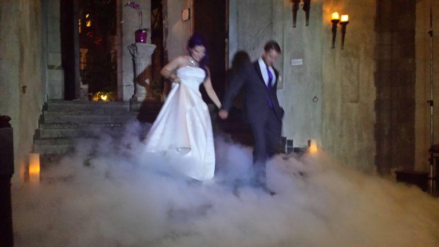 Bride and Groom Fog Shot