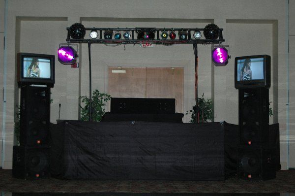 Dual FX DJ's - Our Video Sound System with Light Show and UV Cannons.